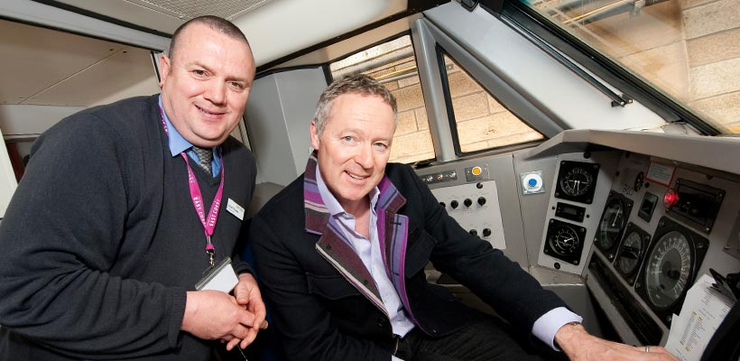 PR photography with Rory Bremner in Newcastle