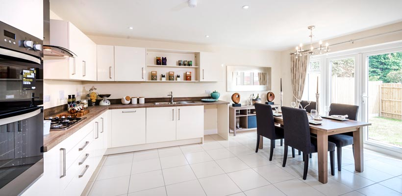 Property photographer Peter Alvey photographs a new a kitchen