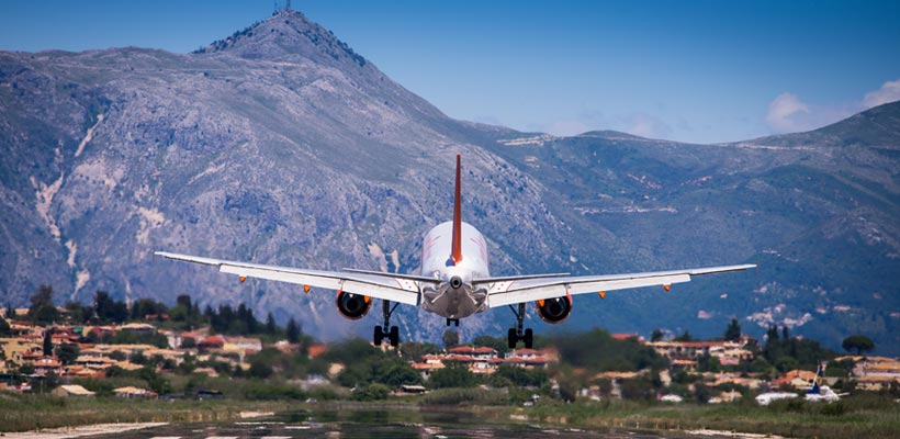 Easyjet at Corfu Airport