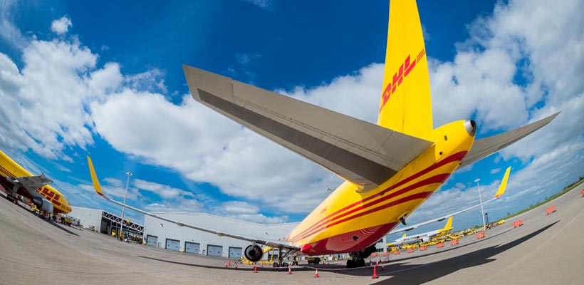DHL planes at East Midlands Airport