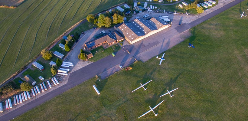 Aerial photograph of Sibbertoft Flying club