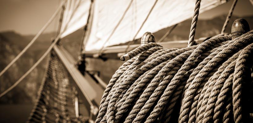 Sailing ship on Lake Garda