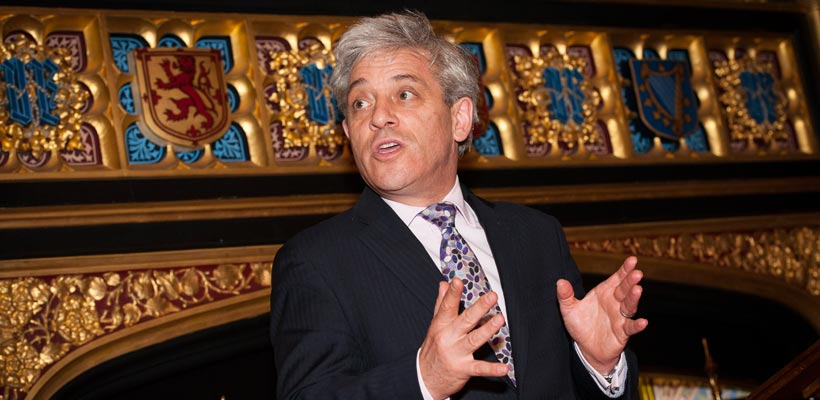 John Bercow at the Speakers House London