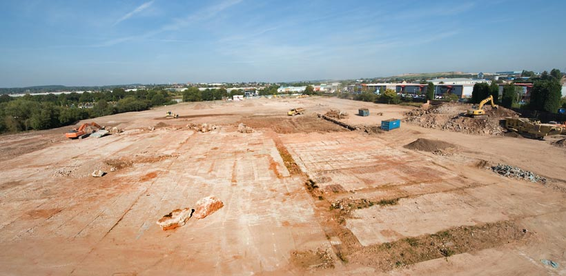 Drone photography of building sites