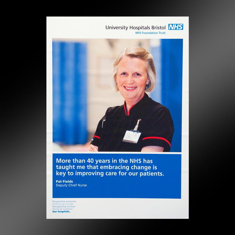 University Hospitals Bristol Nurse poster