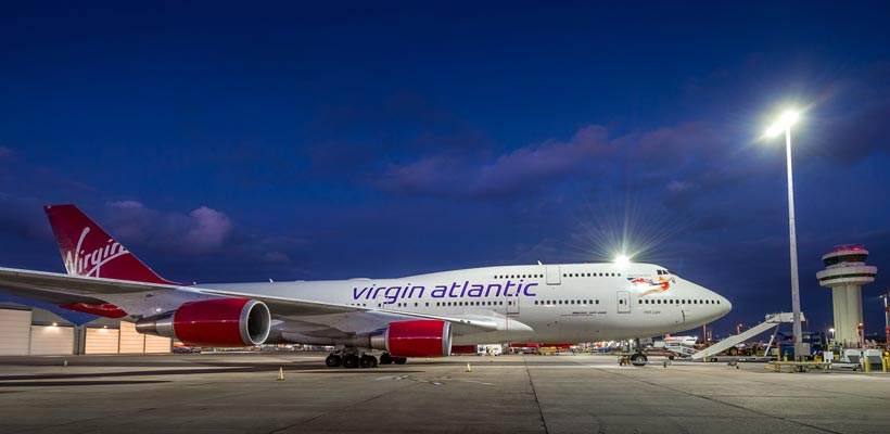 "Virgin Atlantic ""hot Lips"" at Gatwick"