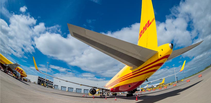 DHL freight plane