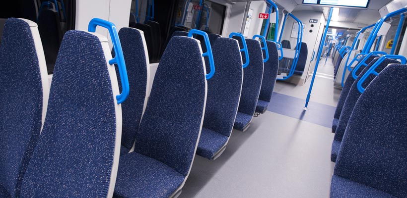 Interior of the Class 700 train launch at the Excel London