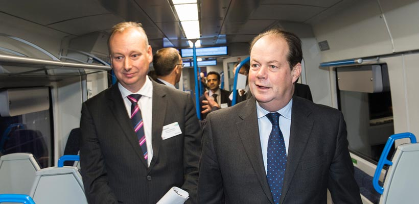 David Statham and Steven Hammond, First Capital Connect and Siemens at the Class 700 launch event