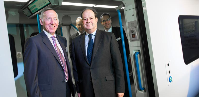 David Statham and Steve Smith, First Capital Connect and Siemens at the Class 700 launch event