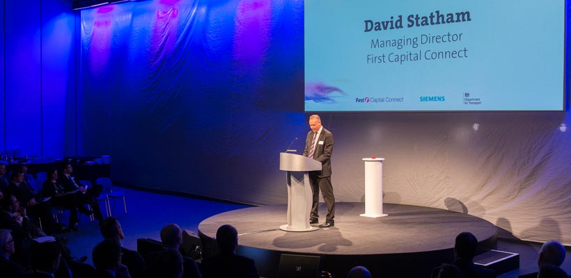 David Statham First Capital Connect at the Class 700 launch event