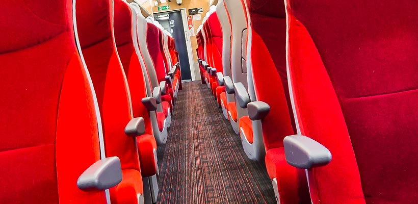 Virgin Trains standard class, photography in London